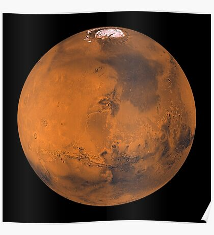 Globale Farbansicht des Mars. Poster