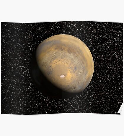 Globale Sicht des Mars Poster