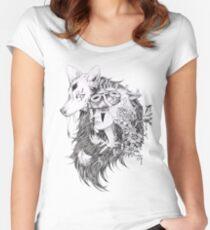 Princess Mononoke -Ghibli Studio Women's Fitted Scoop T-Shirt