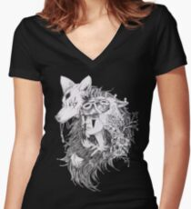 Princess Mononoke -Ghibli Studio Women's Fitted V-Neck T-Shirt