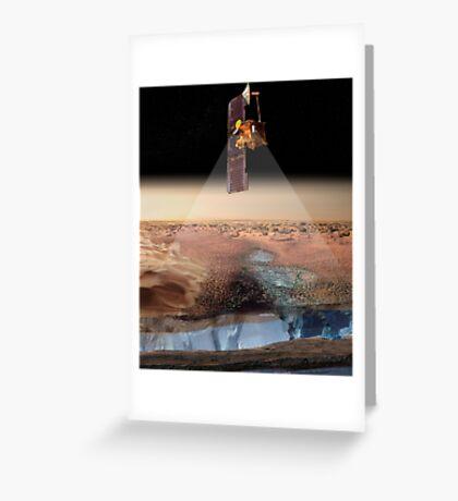 Ansicht des Künstlers von Odyssey, das Eis ermittelt. Grußkarte