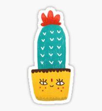 Hi Cactus Sticker