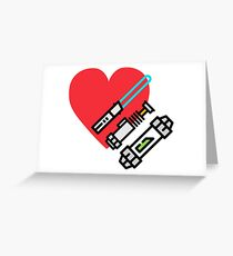 Love lightsaber Greeting Card