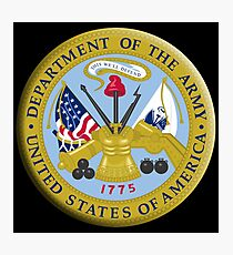 American Army, ARMY, ARMIES, USA, United States Army, Emblem of the United States, Department of the Army Photographic Print
