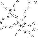 Vogel Fußabdrücke von Viktoriia