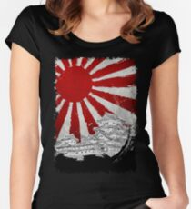Japanese Palace and Sun Women's Fitted Scoop T-Shirt