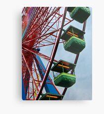 Cedar Point - Giant Wheel Cabins Metal Print
