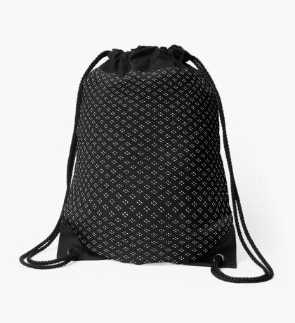 Tiny Black Polka Dots Drawstring Bag