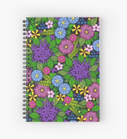 Wild Wildflowers Spiral Notebook