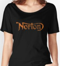 NORTON VINTAGE FADED LOGO Women's Relaxed Fit T-Shirt