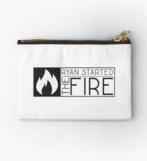 the office tv show lyrics funny ryan started the fire t shirts Studio Pouch