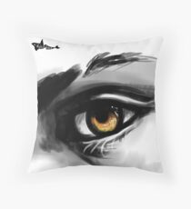 Fire in my eyes Throw Pillow