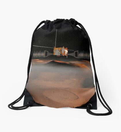 Künstlerisches Konzept der Mars Express-Raumsonde im Orbit um den Mars. Turnbeutel