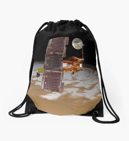 Raumsonde Mars Odyssey fährt über den Südpol des Mars. Turnbeutel