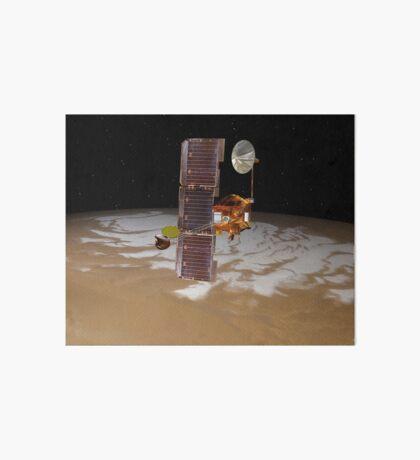 Raumsonde Mars Odyssey fährt über den Südpol des Mars. Galeriedruck