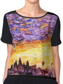 Sunrise at Angkor Wat- Cambodia Chiffon Top