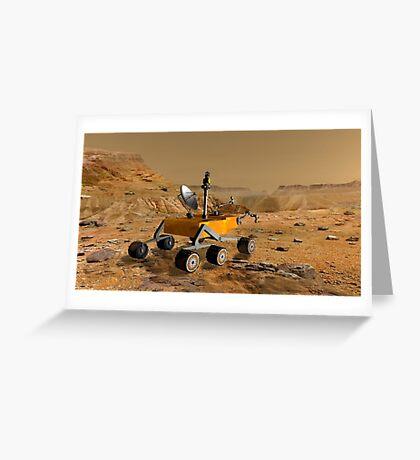 Mars Science Laboratory reist in der Nähe einer Schlucht auf dem Mars. Grußkarte