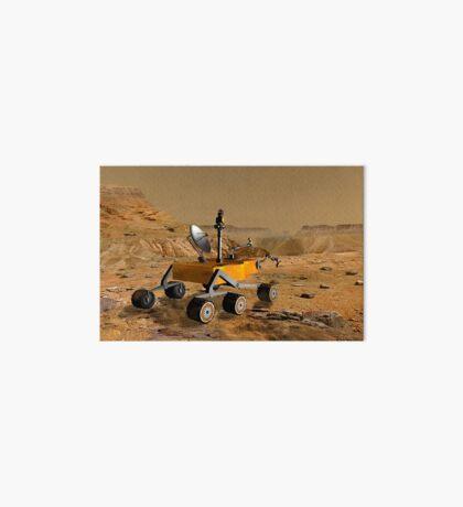 Mars Science Laboratory reist in der Nähe einer Schlucht auf dem Mars. Galeriedruck
