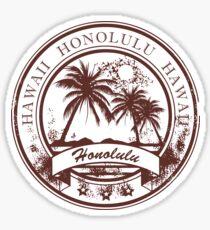 Honolulu Hawaii Travel Destination  Sticker