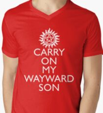 SUPERNATURAL UNOFFICIAL THEME SONG SAM AND DEAN WINCHESTER Men's V-Neck T-Shirt