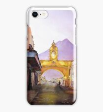 Antigua Guatemala Watercolor Painting iPhone Case/Skin