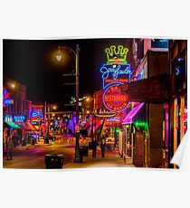 Beale St, Memphis, Tennessee, USA. Poster