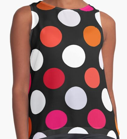 Retro Dots in Shades of Red Sleeveless Top
