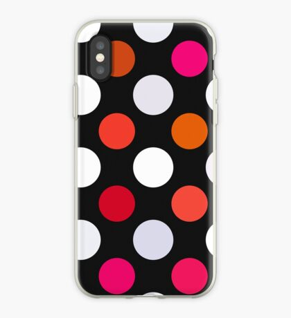 Retro Dots in Shades of Red iPhone Case