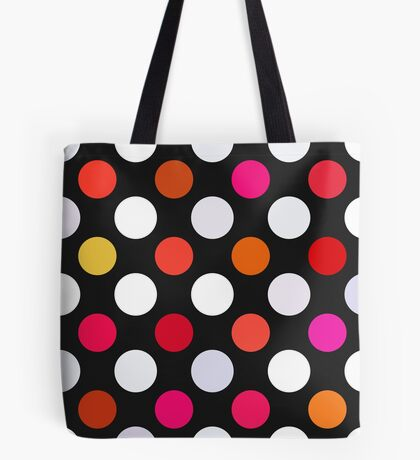 Retro Dots in Shades of Red Tote Bag