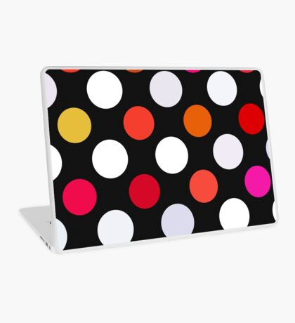 Retro Dots in Shades of Red Laptop Skin