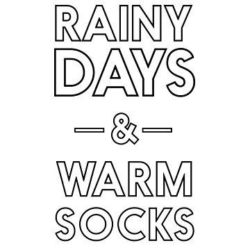 Rainy days and warm socks by inspires