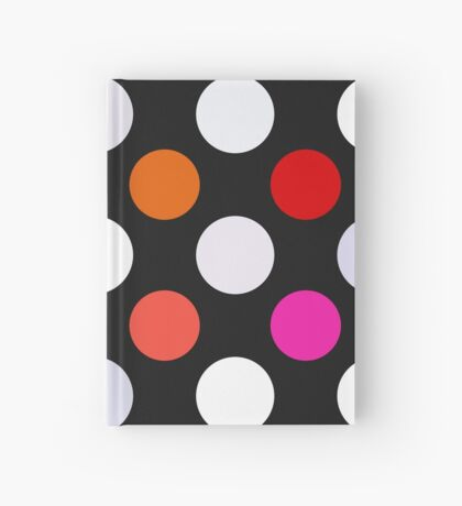 Retro Dots in Shades of Red Hardcover Journal