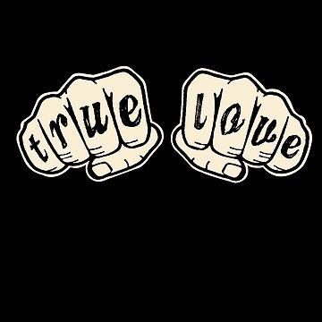 True Love - Knuckle Tattoo  by SaintSinnerShop