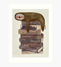 a novel sloth Art Print