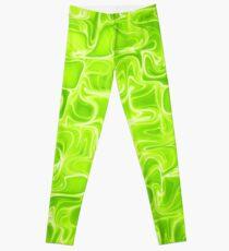 Green waves Leggings