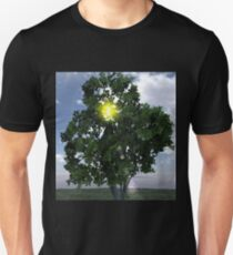 Lens Flare thru Tree Unisex T-Shirt
