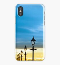lighthouse and row of vintage lamps iPhone Case/Skin