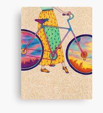 Bike tour Canvas Print