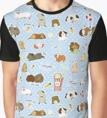 Guinea Pig Party! - Cavy Cuddles and Rodent Romance Graphic T-Shirt