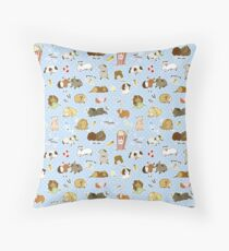 Guinea Pig Party! - Cavy Cuddles and Rodent Romance Throw Pillow