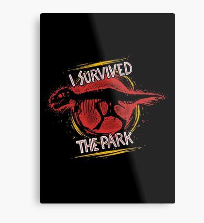 I survived the park Metal Print