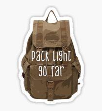 Pack Light Go Far Sticker