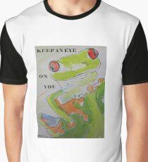 KEEP AN EYE ON YOU - FROG - WATERCOLOURS Grafik T-Shirt