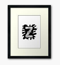 Zap Zed Framed Print