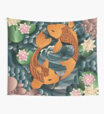 Carp Koi Fish in pond 001 Wall Tapestry
