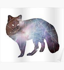Fox Universe Minimal Geometric Poster