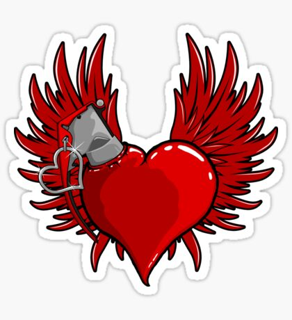 Heart Bomb Sticker