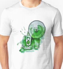 Vintage Camera Illustration - Green Unisex T-Shirt