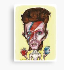 Bowie and his Seventies Diet Canvas Print