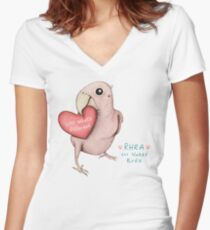 Rhea - Love What's Different Women's Fitted V-Neck T-Shirt